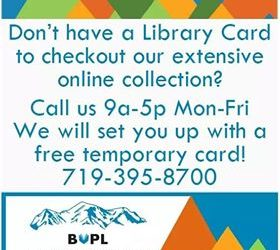 Buena Vista Public Library to Set Up Temporary Library Cards