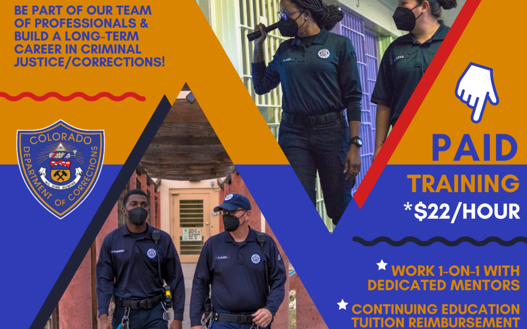 Adults Aged 18-20: Get Paid $22/Hour to Train as a CDOC Correctional Officer Apprentice in Buena Vista!