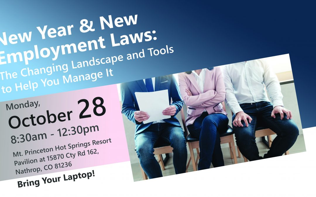 New Year & New Employment Laws:  The Changing Landscape and Tools to Help You Manage It