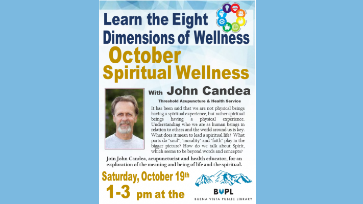 Spiritual Wellness – Eight Dimensions of Wellness Series @ BV Library