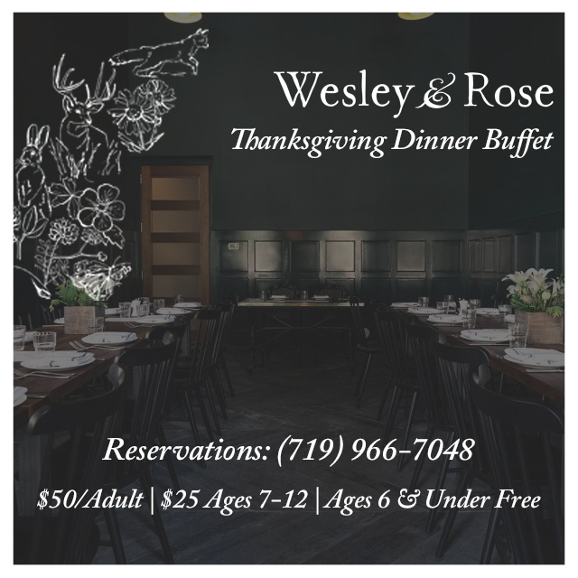 Wesley & Rose Thanksgiving Buffet Dinner